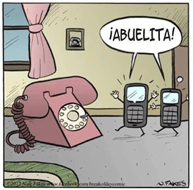 Abuelita teléfono