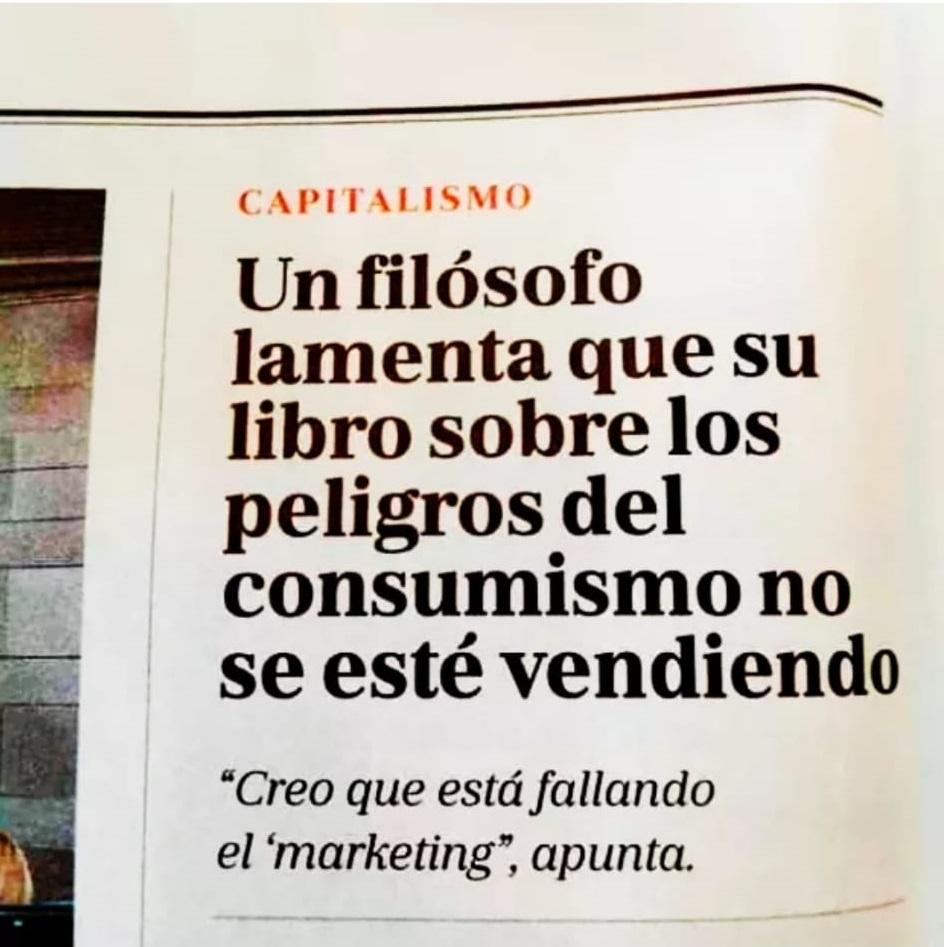 Filosofo sobre el consumismo