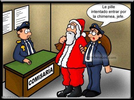 Papa Noel detenido