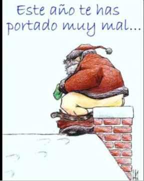Papa Noel sabe que te has portado mal
