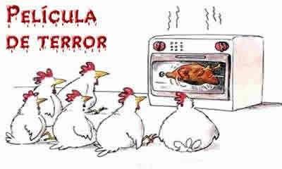 Película de terror para pollos