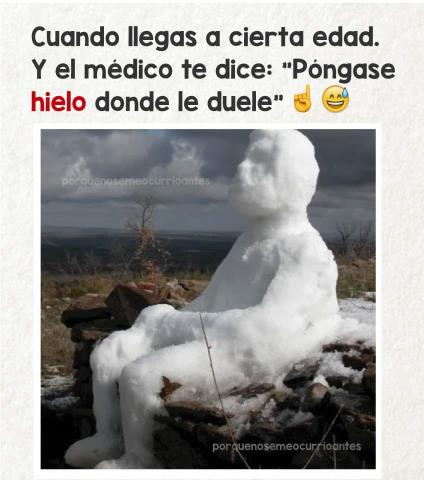 Pongase hielo donde le duele