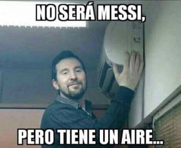 Messi tiene un aire