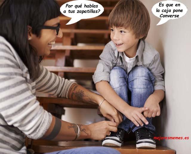 Por qué hablas a tus zapatillas