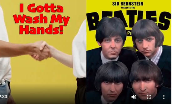 The Beatles I gotta wash my hands