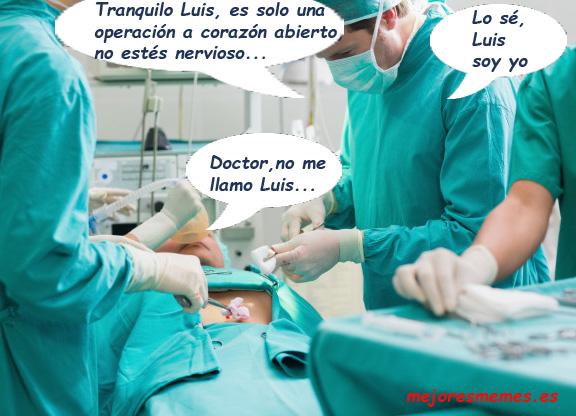 Operación a corazón abierto, chiste, humor
