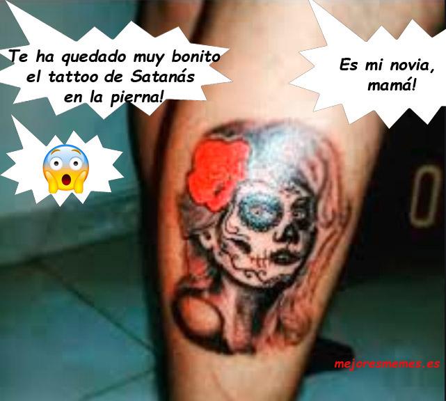 Te ha quedado muy bonito el tattoo de Satanás