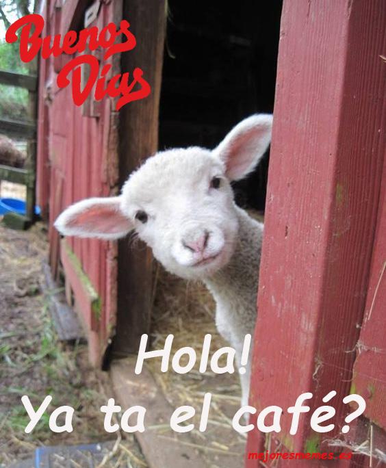 Buenos días ya ta el café?