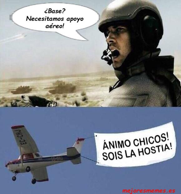 Necesitamos apoyo aéreo