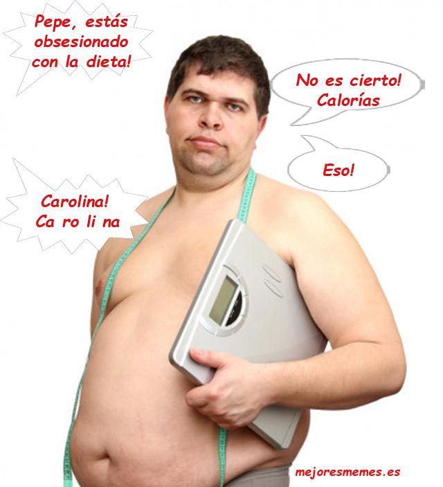 Pepe estás obsesionado con la dieta