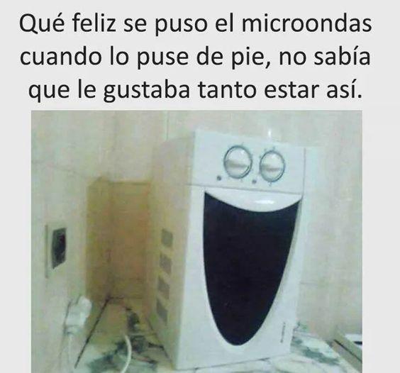 Que feliz se puso el microondas