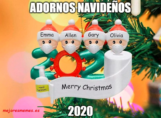 Adornos navideños 2020 covid