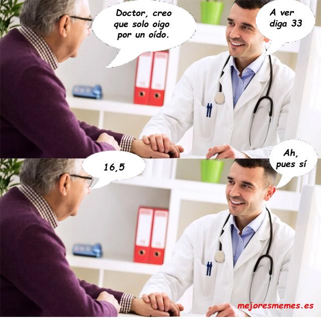 Doctor creo que solo oigo por un oído