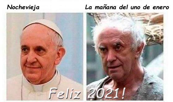 Feliz año 2021 nochevieja año nuevo