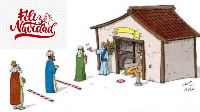 Portal Belén Navidad Covid