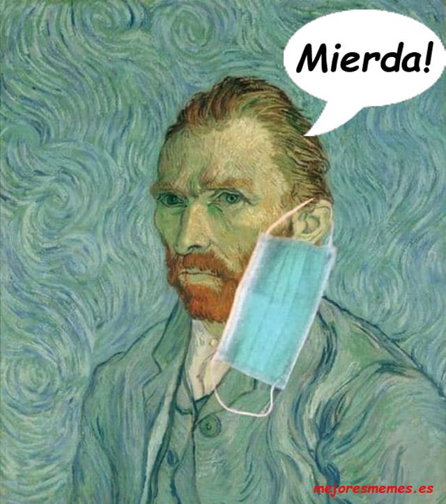 Van Gogh mascarilla covid