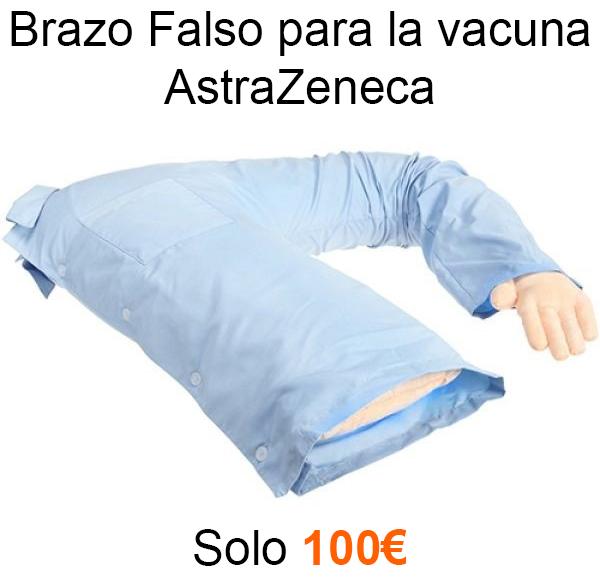 Meme astra zeneca brazo falso