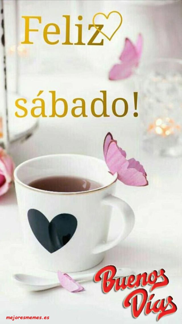 imágenes-frases-buenos-dias-feliz-sabado-bendiciones-café-rosas